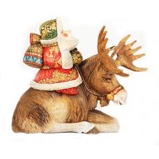 Santa Riding a Moose