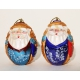 Santa Claus. Set of 2 Christmas Tree Ornaments