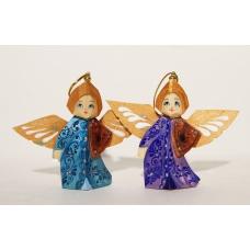 Angels. Set of 2 Christmas Ornament.