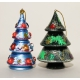 Christmas Tree. Set of 2 Ornaments.