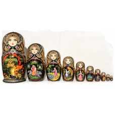 "Matreshka with ""Ruslan and Ludmila"" Fairy-Tale"