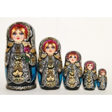 Matreshka Doll with Tulip