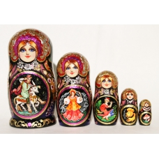Russian Fairy-Tale. Beautiful Nesting Doll