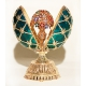 Faberge Style Egg with Bunch of Flowers