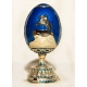 Faberge Style Egg with Monument to Peter the Great (The Bronze Horseman)