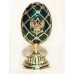 Faberge Style Egg with Double-Headed Eagle and the Church of the Resurrection