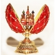 """Faberge Style Egg """"Net"""" with St. Basil's Cathedral"""