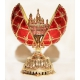 Faberge Style Egg with Double-Headed Eagle and the Saviour-on-the-Spilt-Blood