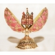 Faberge Style Egg with Double-Headed Eagle and St. Basil's Cathedral