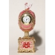 "Faberge Style Egg ""Clock with Rooster"" (music box)"