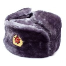 Gray Ushanka with Red Star