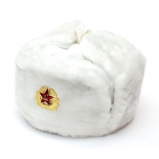 White Ushanka with Red Star