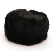 Black Rabbit Fur Ushanka Hat