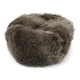 Gray Rabbit Fur Ushanka Hat