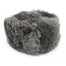 Silver Gray Rabbit Fur Ushanka Hat