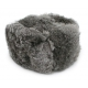 Silver Gray Rabbit Fur Ushanka Hat