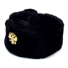Black Ushanka with Eagle