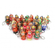 Set of 30 Matreshka Keychains