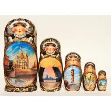 Doll with Saint-Petersburg Views