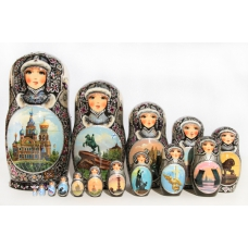 Matreshka with ST. Petersburg Views