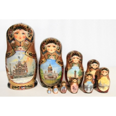 Nesting Doll with St. Petersburg Views