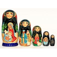 Dolls with Nativity Scene