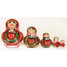 Chubby Doll with Spring Flowers