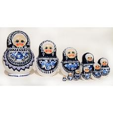 Doll in Gzhel Style