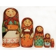 Copy of the First Matreshka Doll. 5 Pieces.