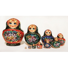 Dolls in Colorful Shawls